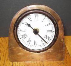 Old copper clock.