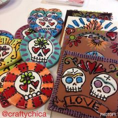 Fired Ceramic Tiles  by CraftyChica.