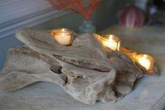 Tre candele portacandele votivo Driftwood di ByTheSeashoreDecor