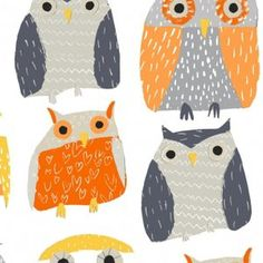 Dear Stella House Designer - Wildwood - Owls in Multi