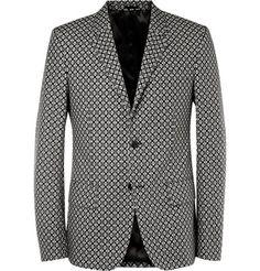 Alexander McQueen Slim-Fit Printed Cotton Blazer | MR PORTER