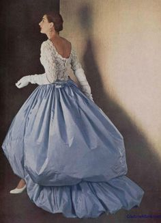 Couture Allure Vintage Fashion  Balenciaga, my favorite designer, 1954