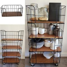 Kmart cage shelf hack to create imitation of $650 Ishka shelves