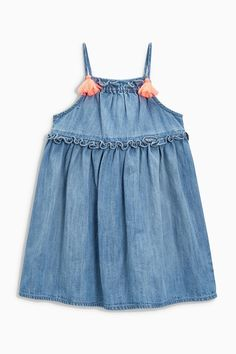 Buy Blue Denim Strappy Dress (3mths-6yrs) from the Next UK online shop