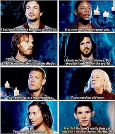 Round table ❤️ he should have made MERLIN a knight I mean he made Mordrid one for saving him once!