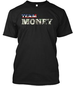 Team Money American Boxing T Shirt Black T-Shirt Front