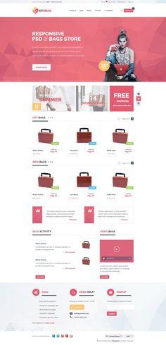 KySbag – eCommerce PSD Template