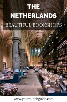 Beautiful bookshops in The Netherlands. Visit The Netherlands and see the most amazing bookstores. Backpacking Europe, Europe Travel Tips, Travel Deals, Places To Travel, Places To Visit, Europe Packing, Traveling Europe, Packing Lists, Travel Hacks