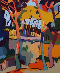 "Идея для батика - на самом деле апликация по мотивам André Derain - ""Three Trees"""