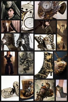 steam punk accessories collage! Omg this is such an awesome discovery!
