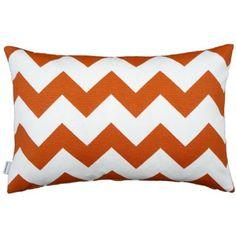 chevron mönster kudde zigzag zickzack 40x60 orange
