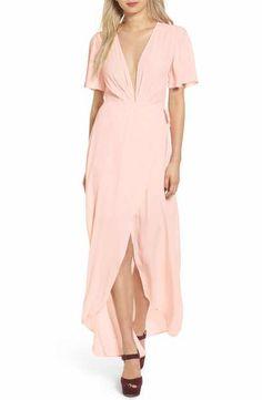 ASTR Selma Floral Print Wrap Dress