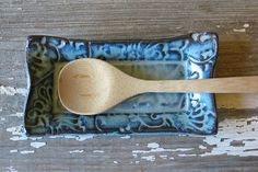 Spoon Rest Butter Dish Jewelry Tray Olive by BRobertsonPottery