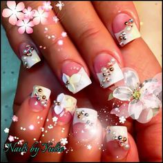 Ok after looking through all yulies photos of her nail designs I think I want these for next set with a different color 3d flower! I so excited!!!!!