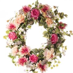 Peony and Rose Spring / Summer Wreath (SW804) - Spring Wreath