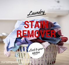 Homemade laundry stain remover - I have had so much fun learning how to make homemade laundry stain remover!  I have replaced so many cleaning products in my home with all-natural or homemade, that I never go down those isles in the grocery store anymore.  I don't know about you, but those last few isles are the ones that usually racked up my grocery bill and I am glad to walk right past them.