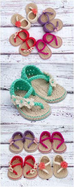 Crochet Baby Sandals Patterns Best Cutest Tutorials