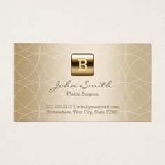 The 196 best plastic surgeon business cards images on pinterest luxury gold monogram plastic surgeon business card colourmoves