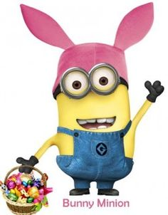 It's a Bunny Minion preparing for Easter. I thought I heard some rumbling in the garden.
