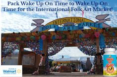 The Santa Fe International Folk Art Market is coming up this weekend! Be sure to pack all natural Wake Up On Time in your bag to be able to get an early start and enjoy the market! Now available at Walmart! Image by Bud Ellison #risenshine #wakeupontime #wakeup #morning #morningmotivation #alarmclock #allnatural #madeinamerica #madeintheusa #madeinusa #nutritionalsupplements #energy #vitamins #aminoacids #herbs #walmart #santafe #newmexico #folkart #market #santafefolkartmarket #travel…