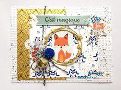 une carte de vœux en scrapbooking, avec de touches d'or
