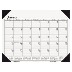 House of Doolittle™ Workstation-Size One-Color Monthly Desk Pad Calendar, 18-1/2 x 13, 2015