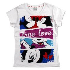 Disney - T-Shirt Mickey Mouse/Minnie Bambina, Camiseta para niñas, blanco, 6 #camiseta #starwars #marvel #gift
