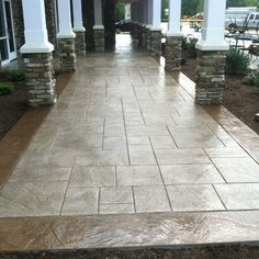 Stamped and colored concrete imported stone patio - contemporary - patio - los angeles - Spragues Ready Mix Concrete