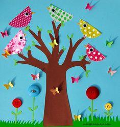 Lavoretti creativi per la primavera Preschool Crafts, Kids Crafts, Diy And Crafts, Arts And Crafts, Animal Crafts For Kids, Toddler Crafts, Diy For Kids, Summer Crafts, Fall Crafts