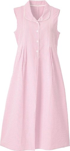 Vermont Country Store calls this a nightgown, but I call it a summer dress! Kurta Designs, Blouse Designs, Cotton Dresses, Cotton Nighties, Nightgown Pattern, Royal Clothing, Night Dress For Women, Dress Neck Designs, Casual Dresses
