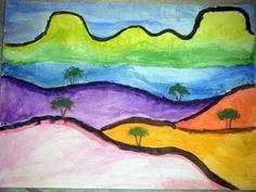klee landscape...(done by highschool)