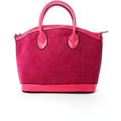 Smile Face Tote Bag in Pink ($70) ❤ liked on Polyvore