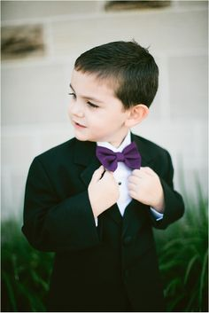Purple Bow Tie for Kids ~ Photo: Love, The Nelsons