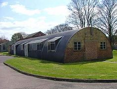 Nissan hut Duxford a photo of a building with an oval corrugated roof