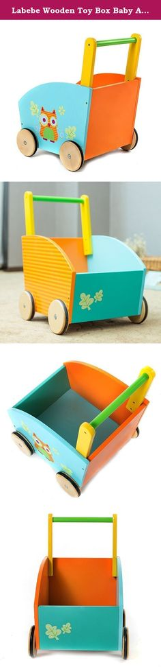 Labebe Wooden Toy Box Baby Activity (Owl). Children baby walker doll carriage sliding car, wood The high-quality trolley is made specially for babies. It is at the first floor and help facilitate tentative steps. The baby walker is easy to push and has to be a spacious transport specialist. With this transport, the baby can put all his favorite toys. Product Specifications: 1.Sweet-carts, three styles-- Owl, Hedgehog and Elephant 2.Sturdy wooden construction and beautiful colors 3. Robust...