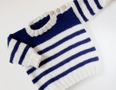 Ravelry: Set Sail pattern by Sarah Cooke Boys Knitting Patterns Free, Baby Cardigan Knitting Pattern Free, Knitting For Kids, Baby Patterns, Pull Bebe, Knit Baby Sweaters, Set Sail, Barn, 10 Years