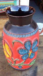 BAY Pottery Large West German Umbrella Floor POT Vase Retro | eBay