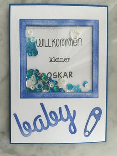 #baby #card #PTI #Shakercard #Stempelküche # Lawn_fawn #Distressink #Schüttelkarte