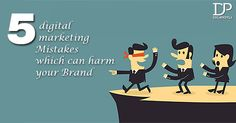 Five #DigitalMarketing Mistakes Which Can Harm Your Brand. #Digipotli #PPCServices #SEOServices #SMOServices #BrandPromotion