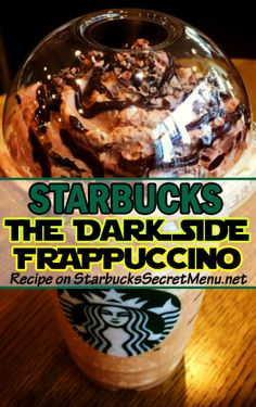 Give in to your inner Dark Side and have a Starbucks Dark Side Frappuccino! #StarWars