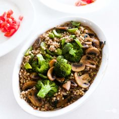 Roasted buckwheat risotto (Wholesome Cook)