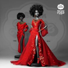 Barbie Refugio Rosa 1980 and 2014 Beautiful Barbie Dolls, Pretty Dolls, Fashion Royalty Dolls, Fashion Dolls, Barbie Mode, Diva Dolls, Dolls Dolls, African American Dolls, Barbie Collection