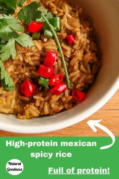 This Mexican inspired recipe with rice is easy, delicious and full of protein! Ideal as an after workout meal! #veganrecipes #mexicanvegan #veganprotein #naturalgoodness Vegan Mexican Recipes, Rice Recipes, Delicious Recipes, Vegan Recipes, Dinner Recipes, Ethnic Recipes, After Workout Food, Spicy Rice, High Protein Recipes