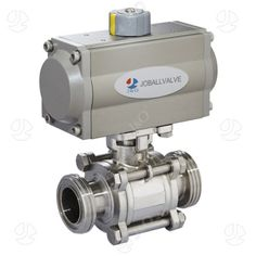Sanitary Stainless Steel 3PCS Thread Ball Valve with Actuator