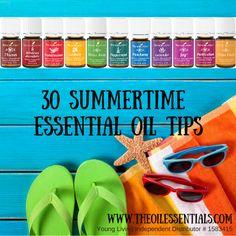 30 Summertime Essential Oil Tips