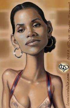 Caricatura de Halle Berryr - www.remix-numerisation.fr - Rendez vos souvenirs…