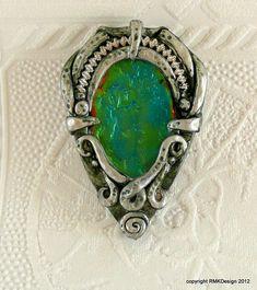 New pendant, faux ammolite | Flickr - Photo Sharing!