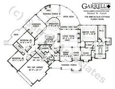Amicalola Cottage House Plan, 1st Floor Plan, Mountain Style House Plans, Craftsman Style House Plans