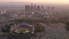 Good old Dodger Stadium.  I walked there from Boyle Heights more than once.  My Grandpa believed in keeping us in shape.