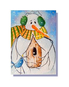 Electronics, Cars, Fashion, Collectibles, Coupons and Snowmen Pictures, Winter Craft, Fantasy Paintings, Birdhouses, Blue Bird, Painting & Drawing, Snowman, Guy, Fine Art
